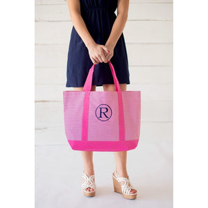 Personalized Thin Striped Tote Bags