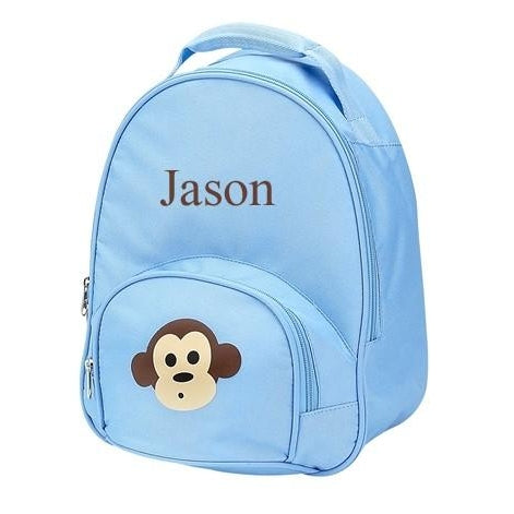 Blue Monkey Toddler Backpack