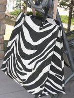 Large Zebra Jute Tote Bag