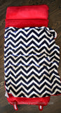 *SOLD OUT* Plush Navy & Red Chevron Nap Mat w/Blanket