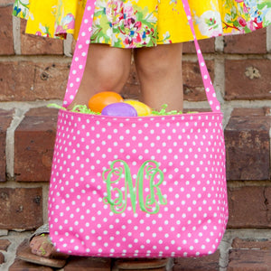 Personalized Polka Dots Easter Bag