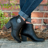 Personalized Black Ankle Boots for Women