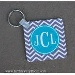 Chevron Stripes Keychain