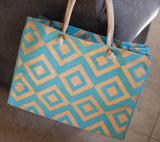 *SOLD OUT* Diamond Jute Totes - inthisveryroom