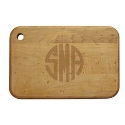 Monogrammed Wood cheese boards - nice!