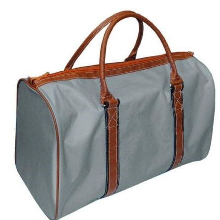Monogrammed Grey Duffel Bag for Boys & Men