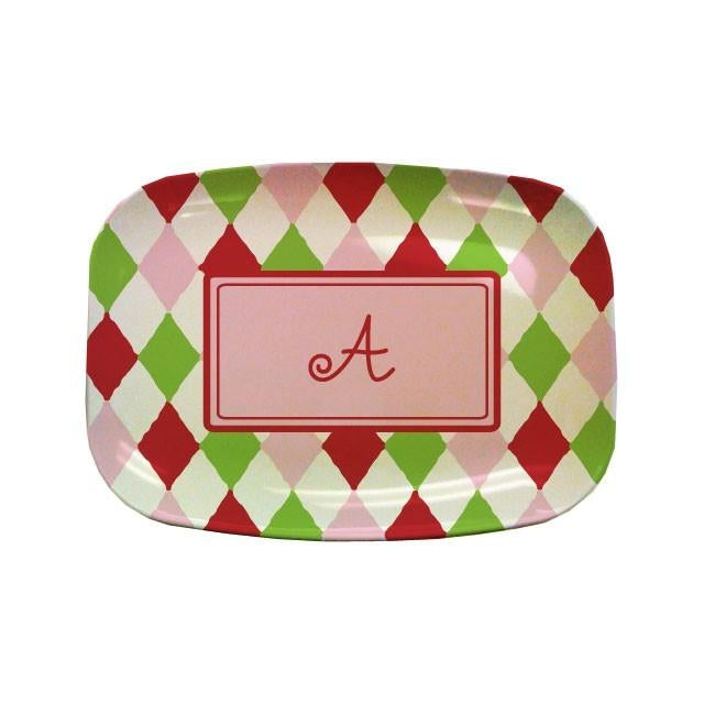 Harlequin Holiday Personalized Platter