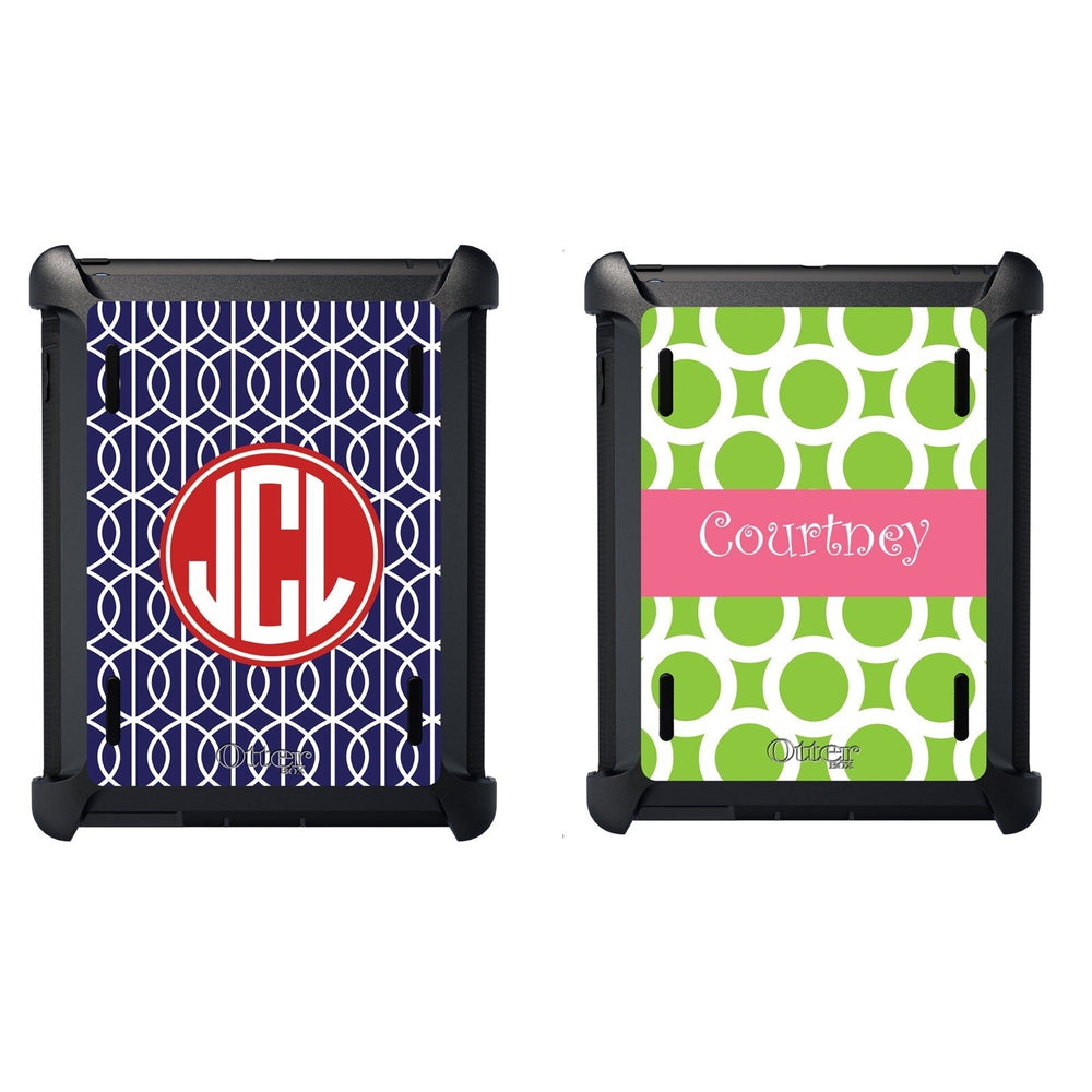 Personalized iPad Otterbox Cases *ALL 2 Color Patterns*