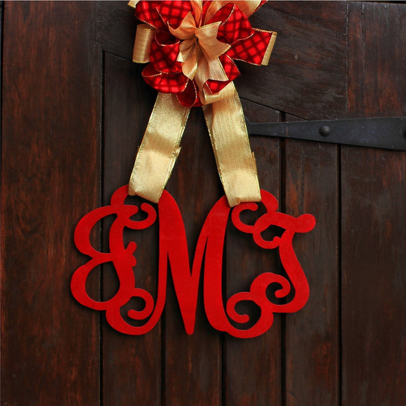 Front Door Wood Monogram - Front Door Initials