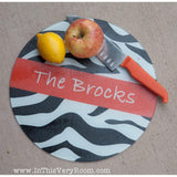 Zebra Round Cutting Board - Many Colors!