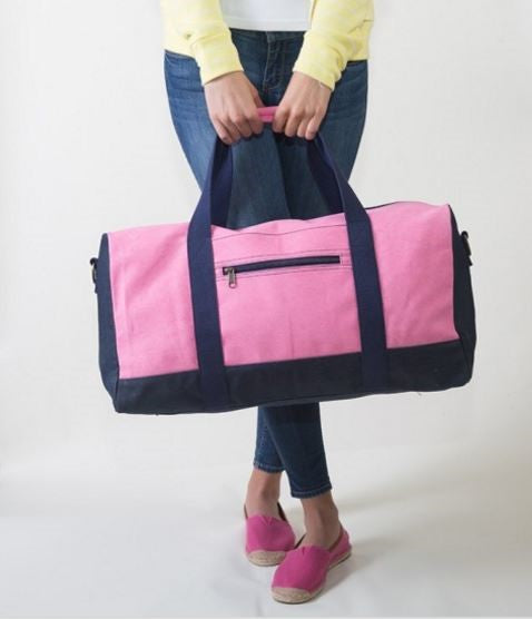 Color Block Duffel Bags - Several Colors!