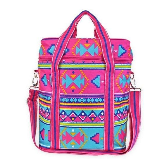 Personalized Aztec Tribal Cooler Bag - Cute Insulated Bag Monogrammed