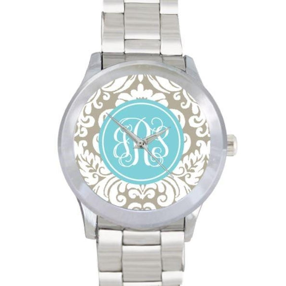 Antique Floral Pattern Watch - Stainless Steel - inthisveryroom