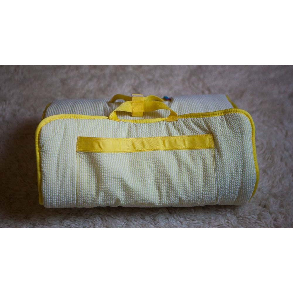 *SOLD OUT* Yellow Seersucker Nap Mat - inthisveryroom