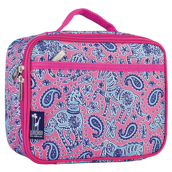 Ponies Monogrammed Lunch Bag