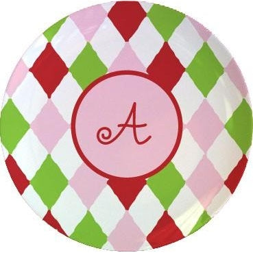 Personalized Dinner Plate - Harlequin