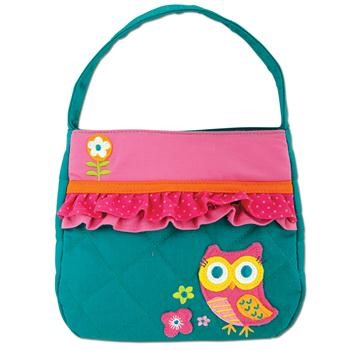 Quilted Teal with Owl Purse