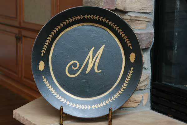 Initial Decorative Platter