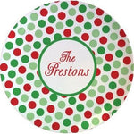 Personalized Christmas Dinner Plate
