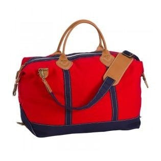 Personalized Large Canvas Duffel Bag - Red