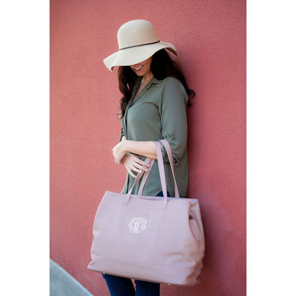 Blush Cambridge Travel Bag / Large Tote Bag - inthisveryroom