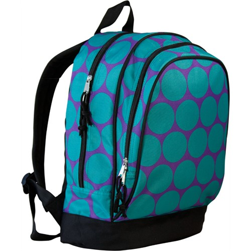 Aqua & Purple Dots Toddler/Pre-K/Kinder Backpack - inthisveryroom