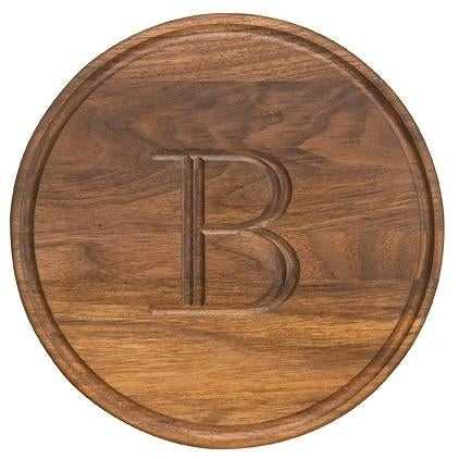 Personalized Walnut Round Cutting Board