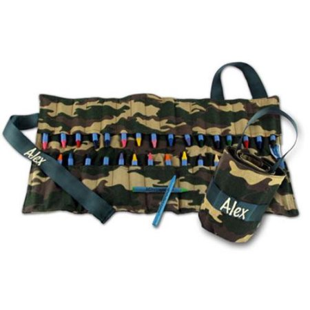 Camo Crayon Keeper Personalized