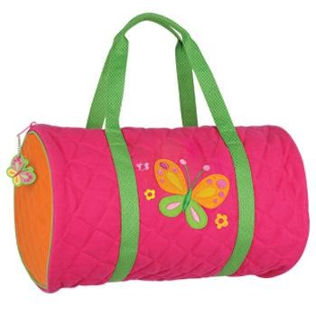 Butterfly Quilted Duffle Bag