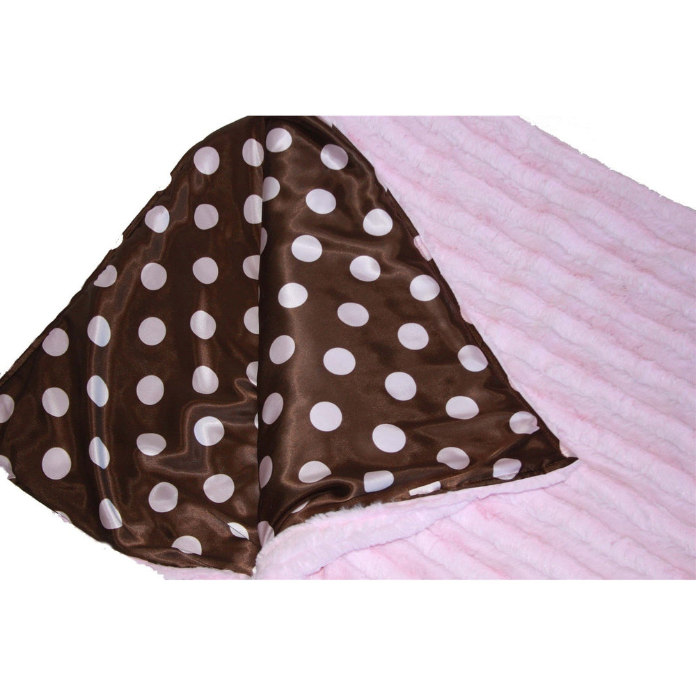 *SOLD OUT* Pink & Brown Dots Stripes Sleeping Bag by Swankie Blankie - inthisveryroom
