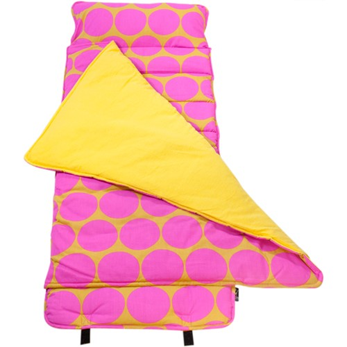 *SOLD OUT* Pink & Mustard Dots Nap Mat by Wildkin - inthisveryroom
