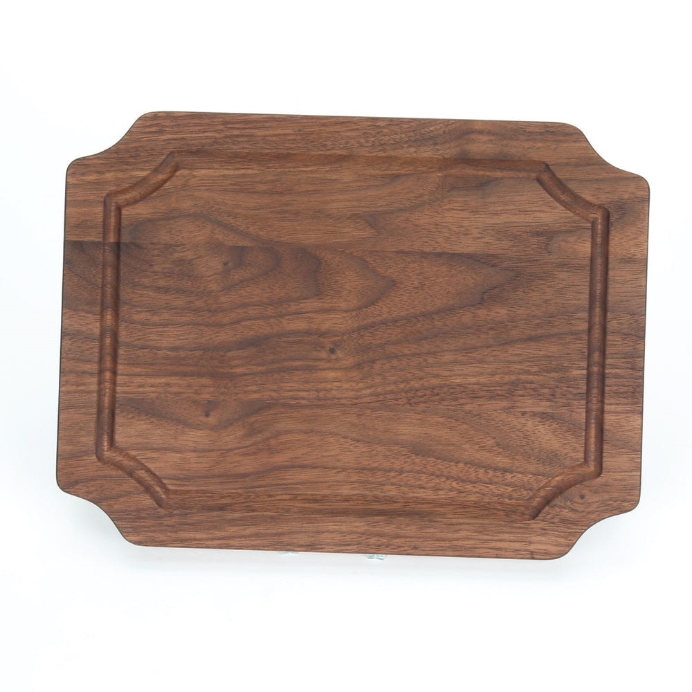 "Walnut Scalloped Rectangle Board - 15""x24"" Large"