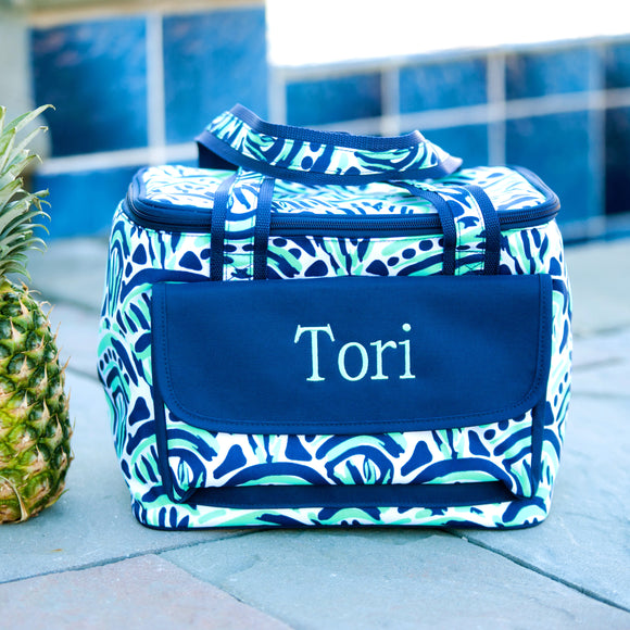 Waves Personalized Tote Cooler Bag