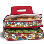 Red Floral April Cornell Pattern - Casserole & Food Carrier