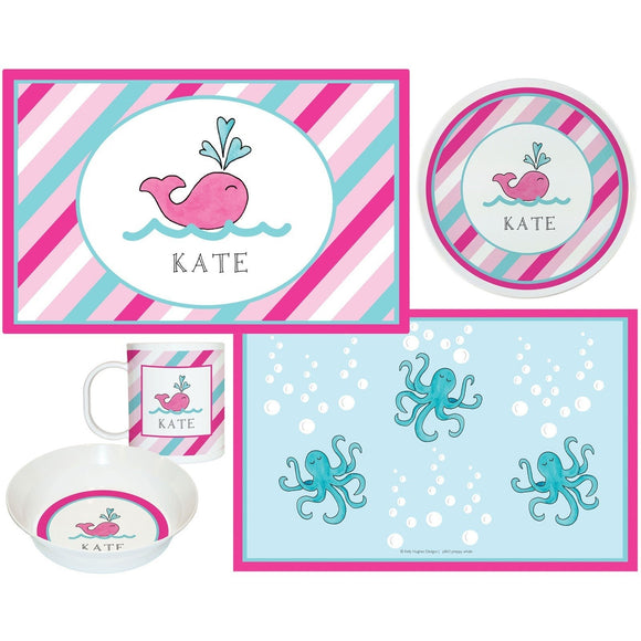 Preppy Whale Kids Dish Sets! Kids' Dish Set