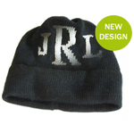 Initials Kids Hat - METALLIC Letter - Boys & Girls - Many Colors!