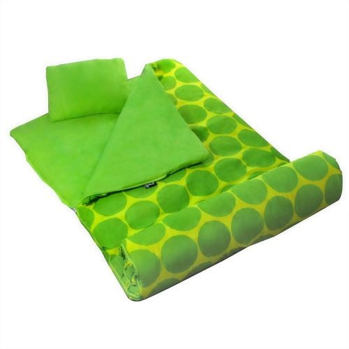 Green Dots Sleeping Bag