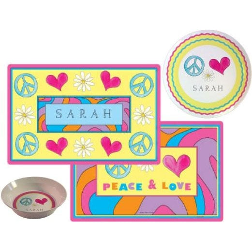 Peace, Love, Eat! Kids' Dish Set