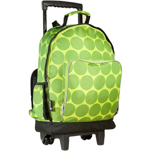 Green Dot Rolling Backpack
