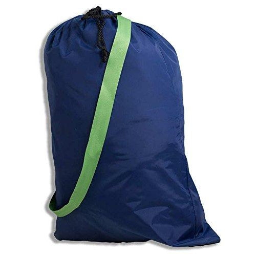 Navy & Green Laundry Bag