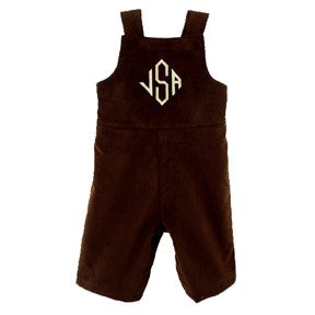 Monogrammed Brown John John for Boys