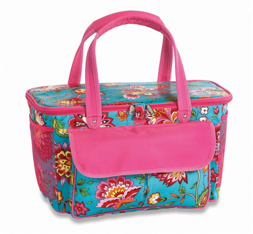 April Cornell Turquoise - Cooler Tote Basket - inthisveryroom