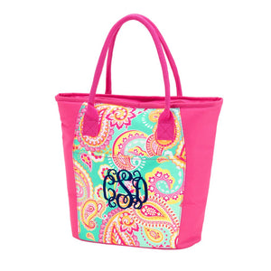 Personalized Paisley Insulated Cooler Bag
