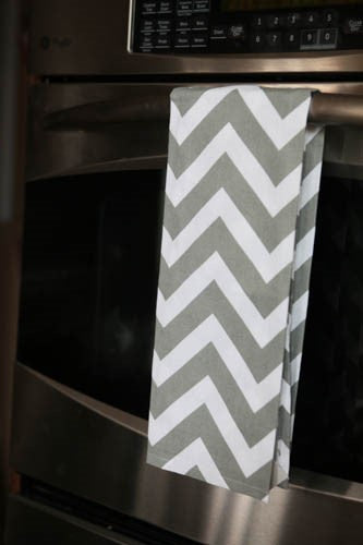 *SOLD OUT* Grey Chevron Hand Towel - inthisveryroom