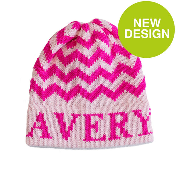Personalized Chevron Hat for Kids