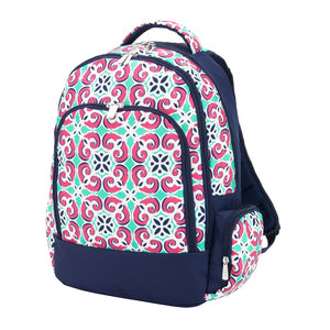 Monogrammed Girls Backpack - Moroccan