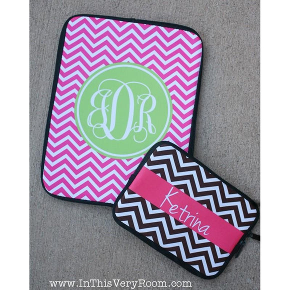 Chevron Stripes Zipper Sleeve - iPads, Kindles, Laptops +