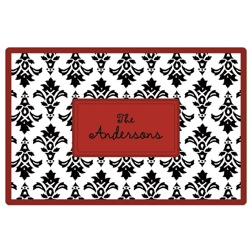 Personalized Placemat - Damask