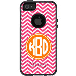 Personalized Chevron Stripes Otterbox Case