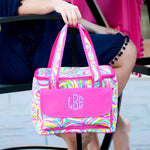 Personalized Beach Cooler Bag - Sorbet Pattern